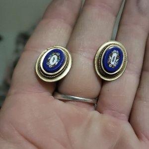 Vintage Micro Masonic earrings